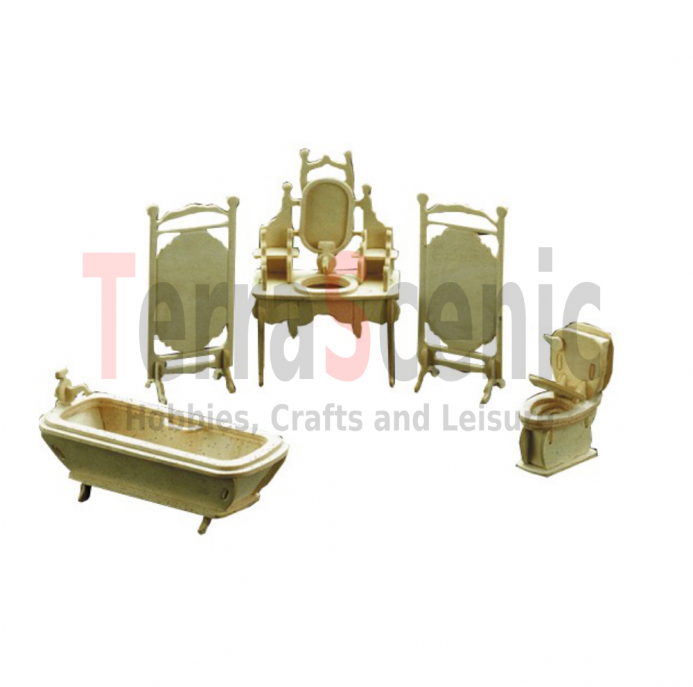 Dolls House Furniture Kit 1:12 Scale Bathroom